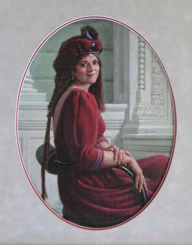 La Dame en rouge (Hélène)