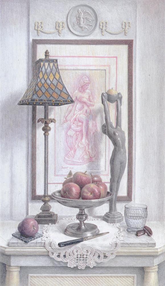 Dessin avec une lampe de vitrail