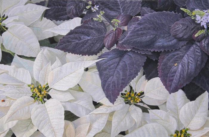 Harmonie en violet et blanc
