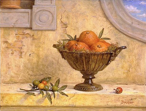 Oranges dans un bol métallique